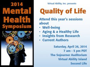 Graphic for Mental Health Symposium showing title.